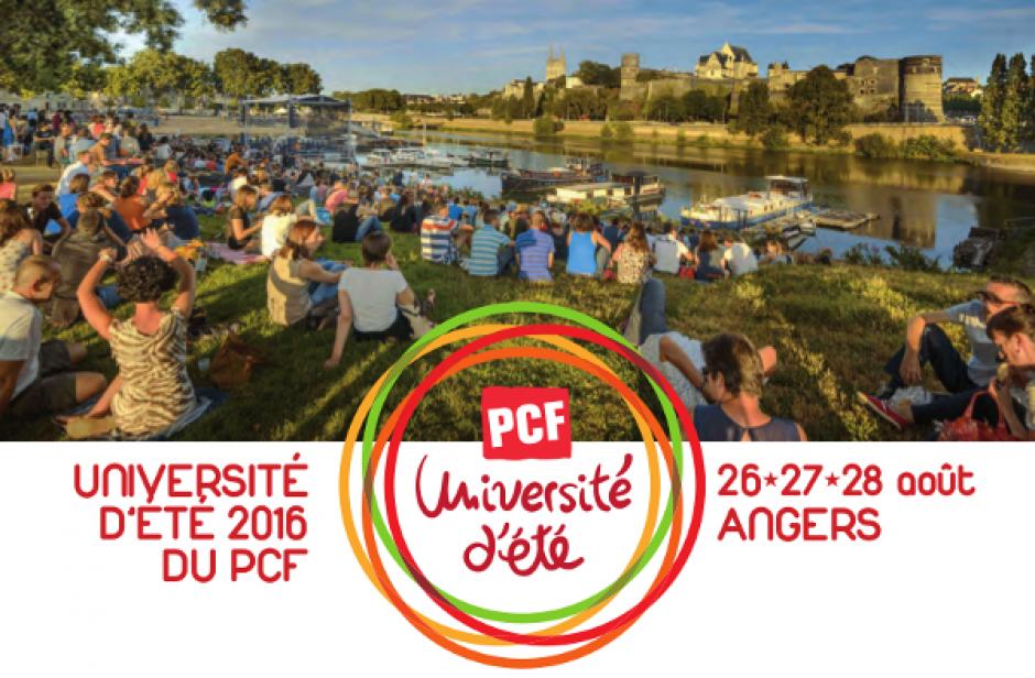 Université d'été 2016 du PCF à Angers